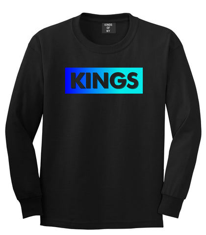 Kings Blue Gradient Long Sleeve T-Shirt in Black by Kings Of NY