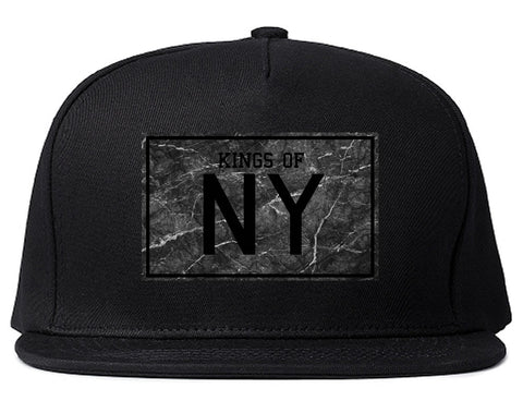 Granite NY Logo Print Snapback Hat in Black by Kings Of NY