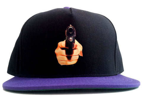 Hand Gun Women Girls Sexy 2 Tone Snapback Hat By Kings Of NY