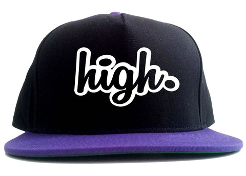 High Outline Weed 2 Tone Snapback Hat By Kings Of NY