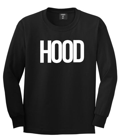 Hood Trap Style Compton New York Air Long Sleeve T-Shirt In Black by Kings Of NY