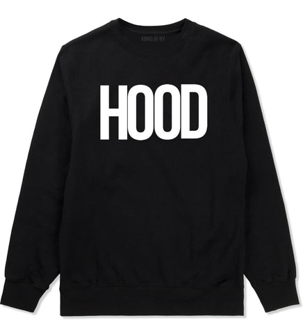 Hood Trap Style Compton New York Air Crewneck Sweatshirt In Black by Kings Of NY