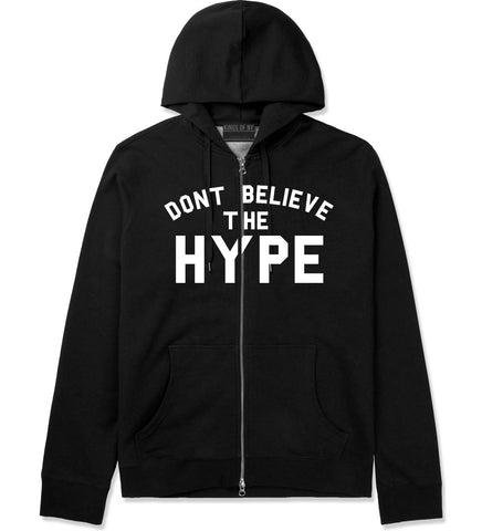Don't Believe The Hype Zip Up Hoodie in Black By Kings Of NY