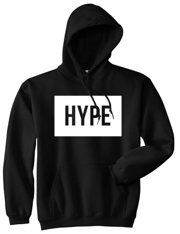 Hype Style Streetwear Brand Logo White by Kings Of NY Boys Kids Pullover Hoodie Hoody In Black by Kings Of NY