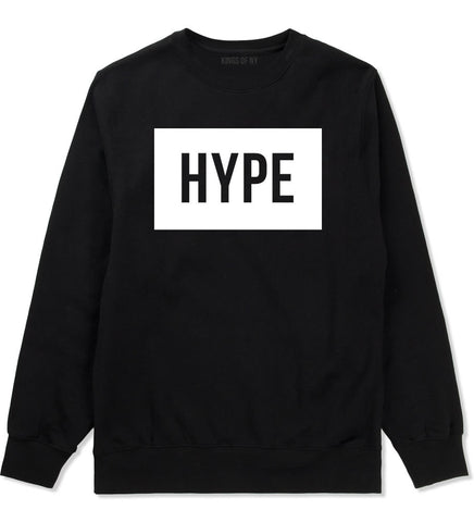 Hype Style Streetwear Brand Logo White by Kings Of NY Boys Kids Crewneck Sweatshirt In Black by Kings Of NY