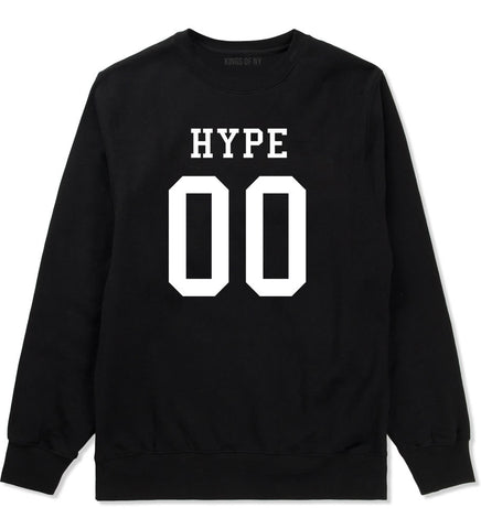 Hype Team Jersey Crewneck Sweatshirt in Black By Kings Of NY
