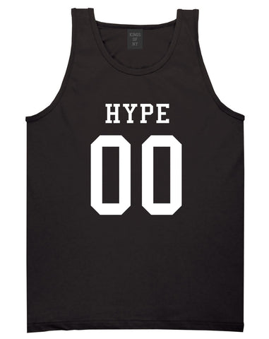 Hype Team Jersey Tank Top in Black By Kings Of NY
