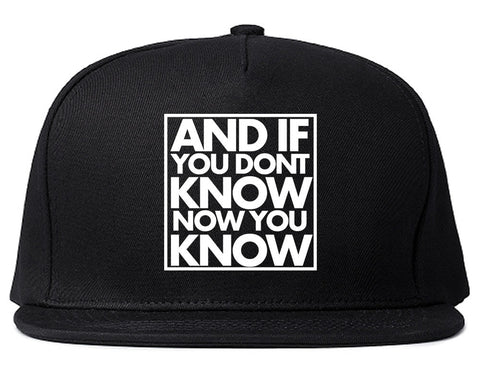 And If You Don't Know Now You Know Snapback Hat By Kings Of NY