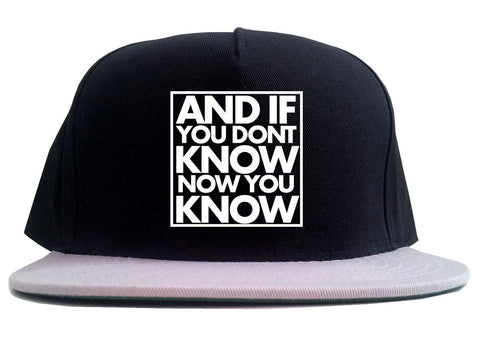 And If You Don't Know Now You Know 2 Tone Snapback Hat By Kings Of NY
