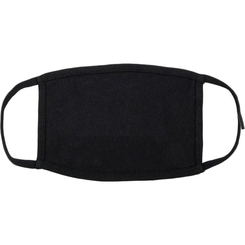3 PACK Bulk Blank Black Cotton Face Masks