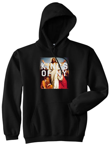 Jesus Worship and Praise of Power Pullover Hoodie in Black By Kings Of NY
