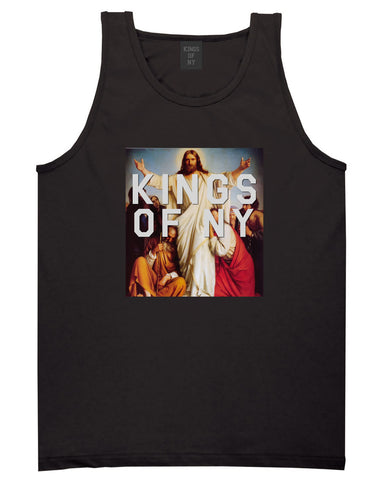 Jesus Worship and Praise of Power Tank Top in Black By Kings Of NY