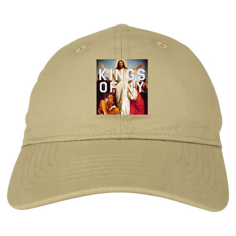 97e7cedfa6cef ... Jesus Worship and Praise of Power Dad Hat in Tan By Kings Of NY ...