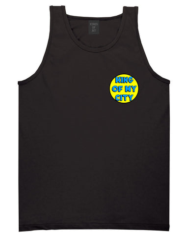 King Of My City Logo Tank Top in Black