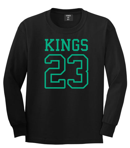KINGS 23 Jersey Long Sleeve T-Shirt in Black By Kings Of NY