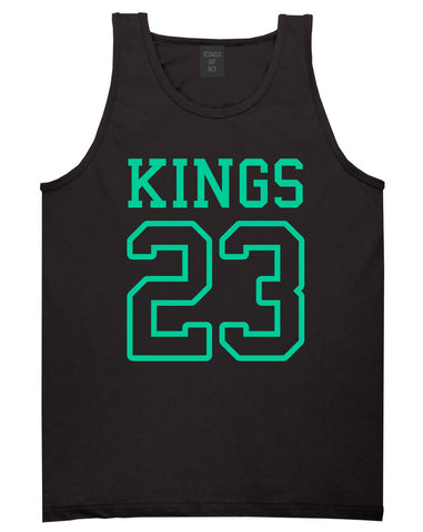 KINGS 23 Jersey Tank Top in Black By Kings Of NY
