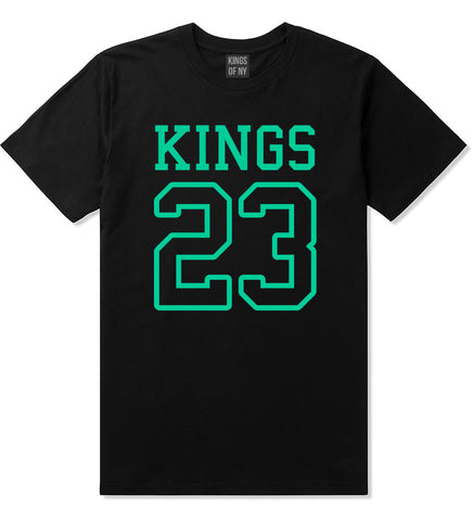 KINGS 23 Jersey T-Shirt in Black By Kings Of NY