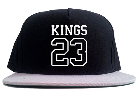 KINGS 23 Jersey 2 Tone Snapback Hat By Kings Of NY