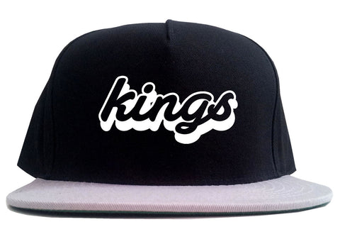 Kings Blue Gradient Logo 2 Tone Snapback Hat By Kings Of NY