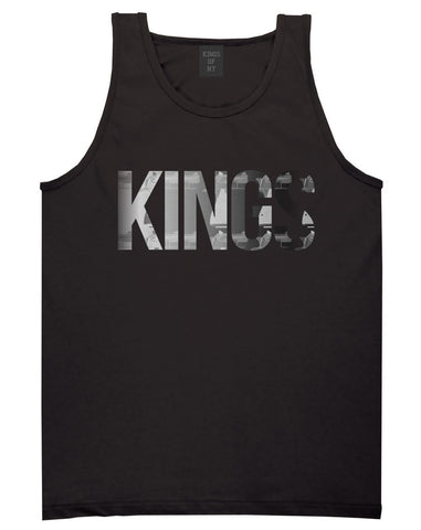 KINGS Gun Pattern Print Tank Top in Black by Kings Of NY