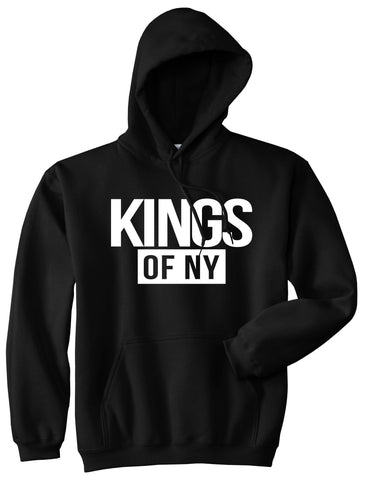Kings Of NY Logo W15 Pullover Hoodie in Black By Kings Of NY