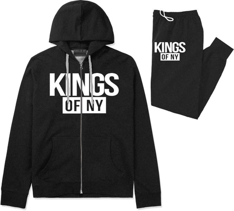 Kings Of NY Logo W15 Premium Sweatsuit in Black By Kings Of NY