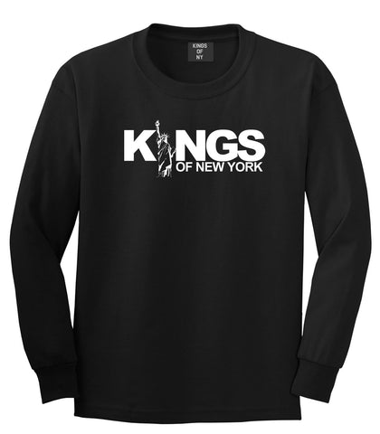 KINGS Lady Liberty Logo Long Sleeve T-Shirt in Black by Kings Of NY