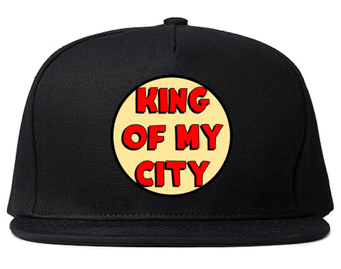 King Of My City Chest Logo Snapback Hat in Black by Kings Of NY