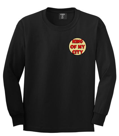 King Of My City Chest Logo Long Sleeve T-Shirt in Black by Kings Of NY
