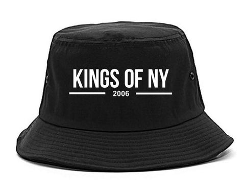 Kings Of NY 2006 Logo Lines Bucket Hat By Kings Of NY