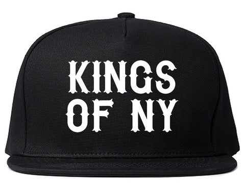 FALL15 Font Logo Print Snapback Hat in Black by Kings Of NY