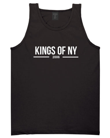 Kings Of NY 2006 Logo Lines Tank Top in Black By Kings Of NY