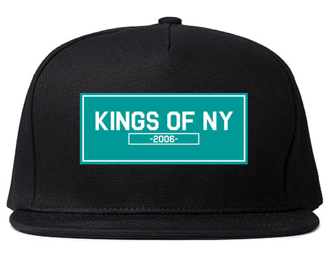 FALL15 Blue Logo Snapback Hat in Black by Kings Of NY
