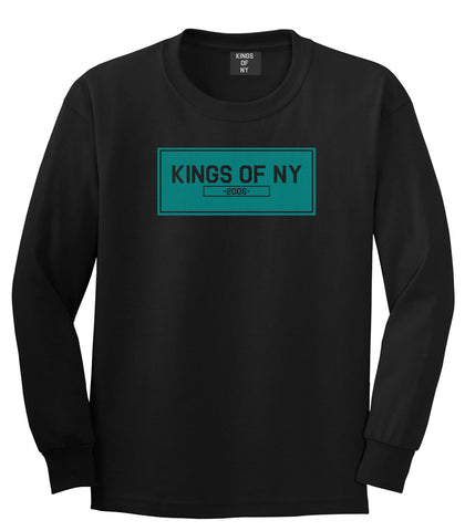 FALL15 Blue Logo Long Sleeve T-Shirt in Black by Kings Of NY