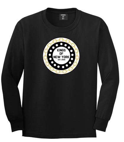 Chain Logo New York Brooklyn Bronx Long Sleeve T-Shirt In Black by Kings Of NY