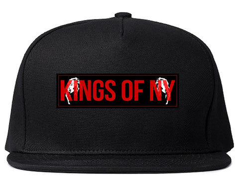 Red Girl Logo Print Snapback Hat in Black by Kings Of NY