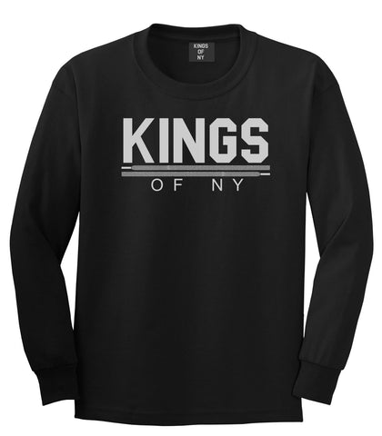 Kings Of NY Laces Long Sleeve T-Shirt in Black By Kings Of NY