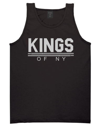 Kings Of NY Laces Tank Top in Black By Kings Of NY