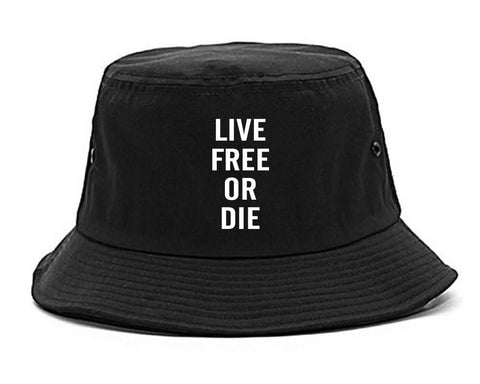 Live Free Or Die Bucket Hat in Black By Kings Of NY