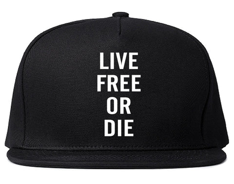Live Free Or Die Snapback Hat in Black By Kings Of NY