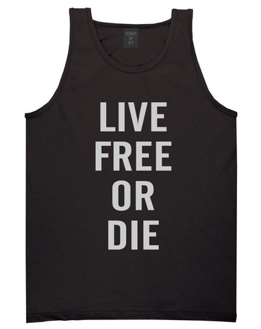 Live Free Or Die Tank Top in Black By Kings Of NY