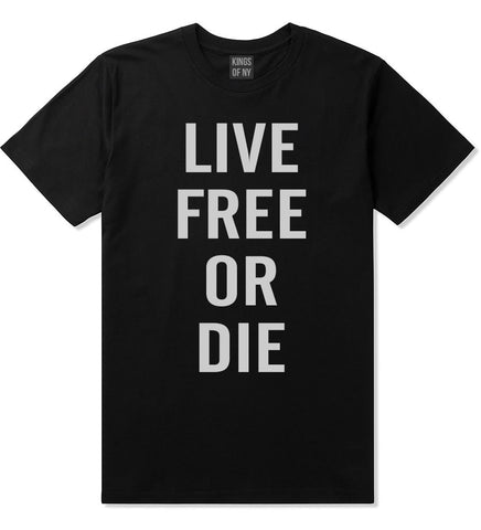 Live Free Or Die T-Shirt in Black By Kings Of NY