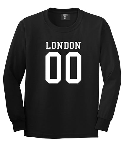 London Team 00 Jersey Long Sleeve T-Shirt in Black By Kings Of NY