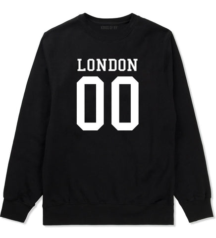 London Team 00 Jersey Crewneck Sweatshirt in Black By Kings Of NY