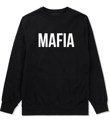 Mafia Junior Italian Mob  Crewneck Sweatshirt in Black By Kings Of NY