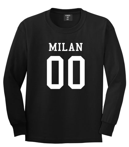 Milan Team 00 Jersey Long Sleeve T-Shirt in Black By Kings Of NY