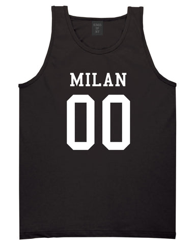 Milan Team 00 Jersey Tank Top in Black By Kings Of NY