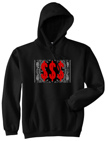 Money Bandana Gang Pullover Hoodie in Black By Kings Of NY