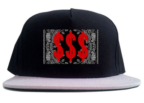 Money Bandana Gang 2 Tone Snapback Hat By Kings Of NY