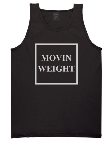 Movin Weight Hustler Tank Top in Black by Kings Of NY